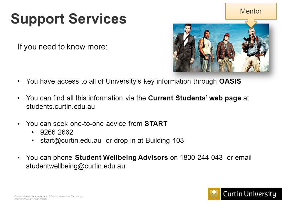 Curtin University is a trademark of Curtin University of Technology CRICOS Provider Code 00301J Tours in Orientation Week - Survival at your Library L