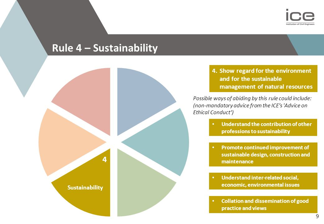 Rule 5 – Continued Professional Development Improve and update technical knowledge Contribute to the professional development of others Changes in statutory provisions Further education Knowledge, skills, competence 5.Develop your professional knowledge, skills and competence on a continuing basis Continued Professional Development 5 10