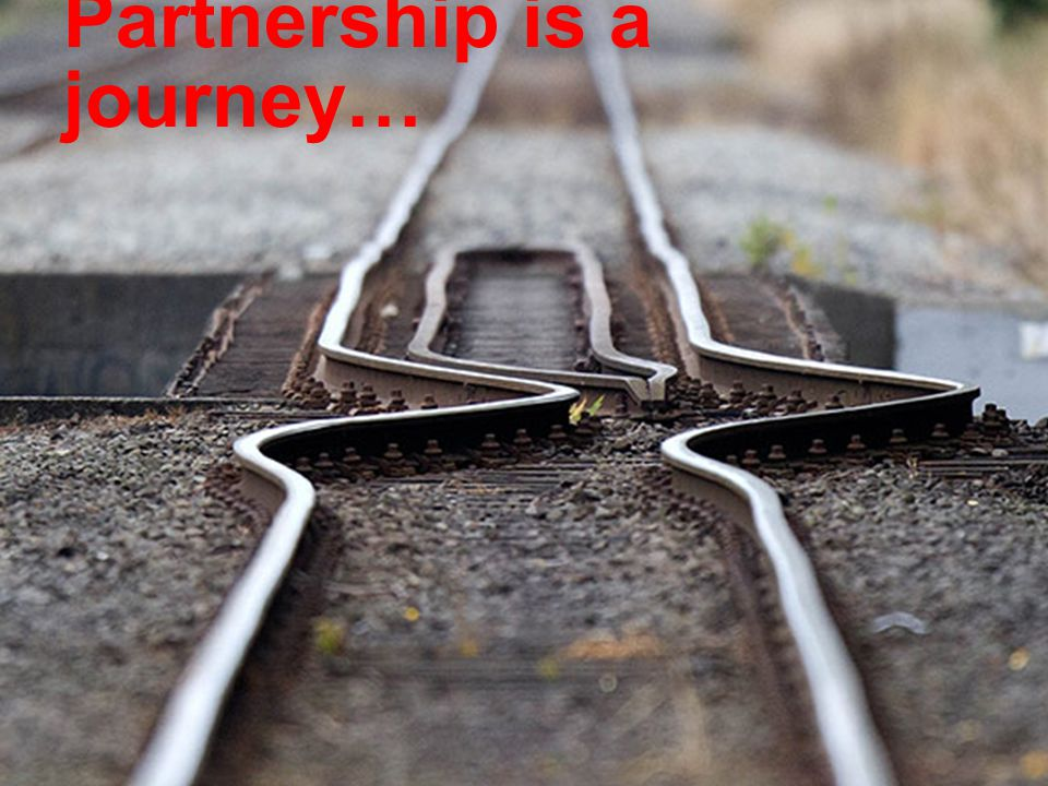Partnership is a journey…