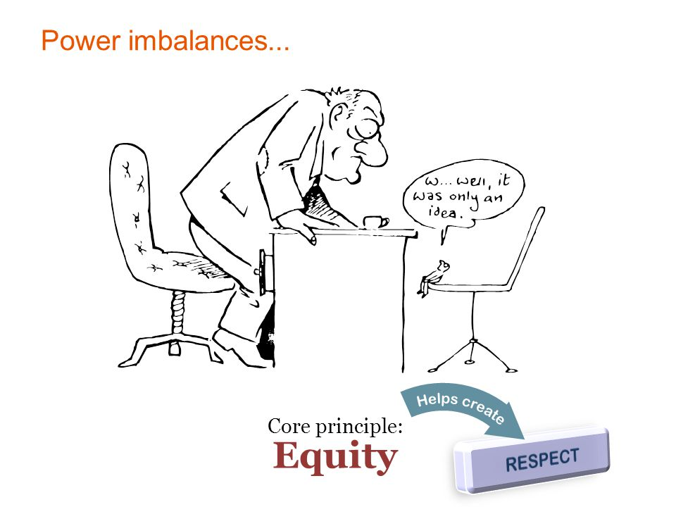 Power imbalances... Core principle: Equity