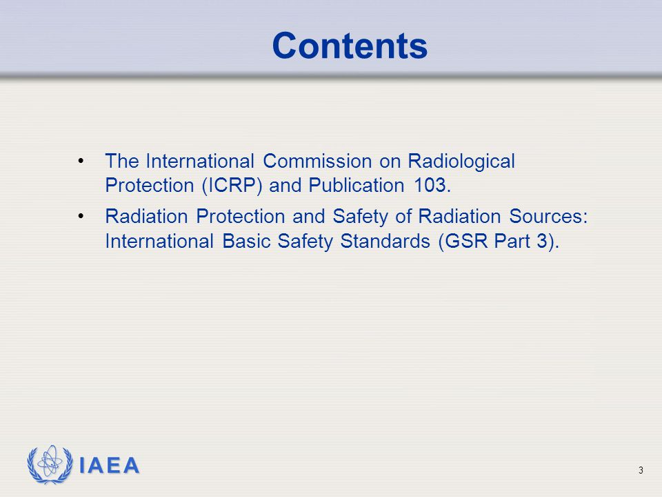 IAEA 4 The ICRP and the ICRU were established in 1928 by the Second International Congress of Radiology.