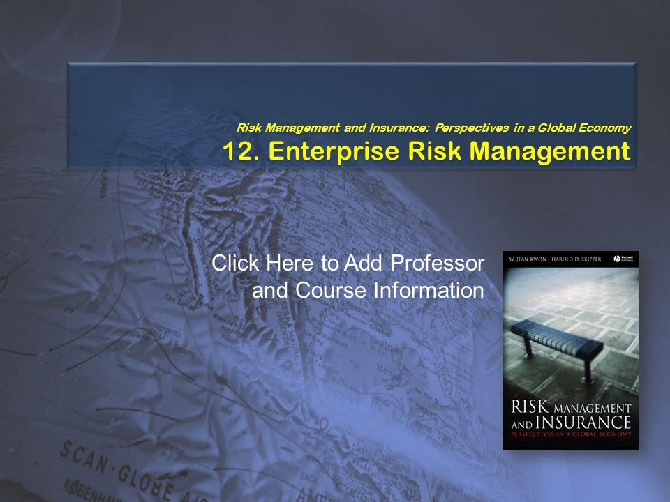 Study Points  The evolution of enterprise risk management  Risk management fundamentals  The ERM framework  The risk management process 3