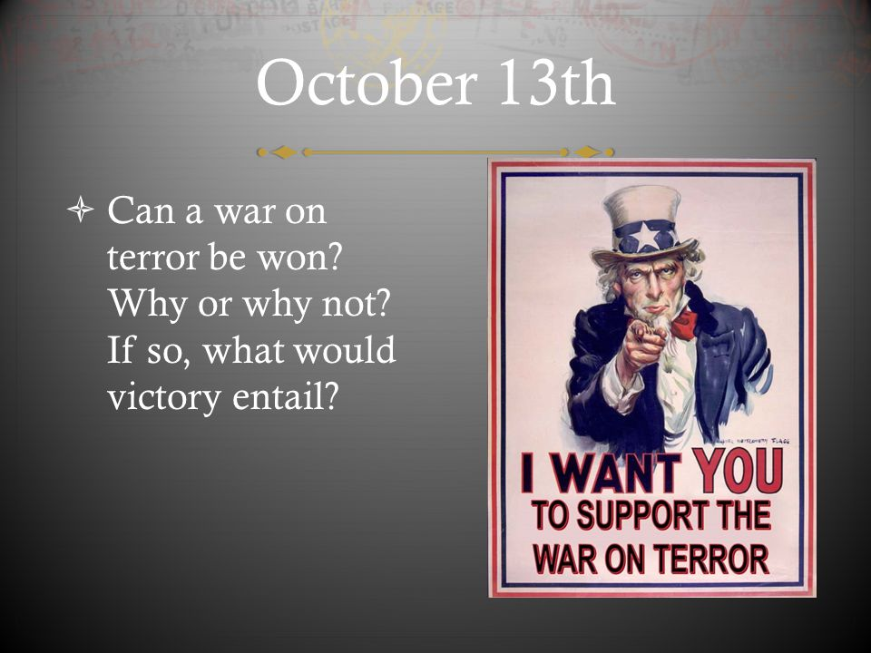 October 18th  Why did the terrorists of 9-11 use planes.