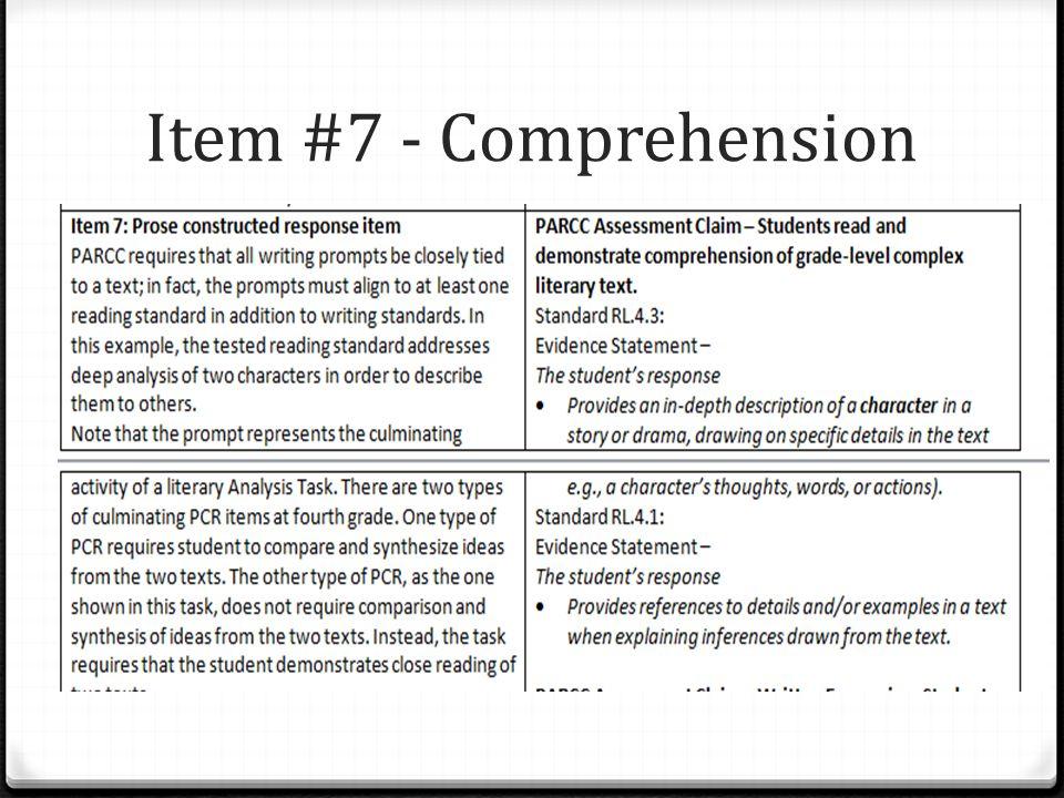 Item #7 - Comprehension