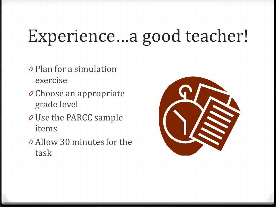 Experience…a good teacher.