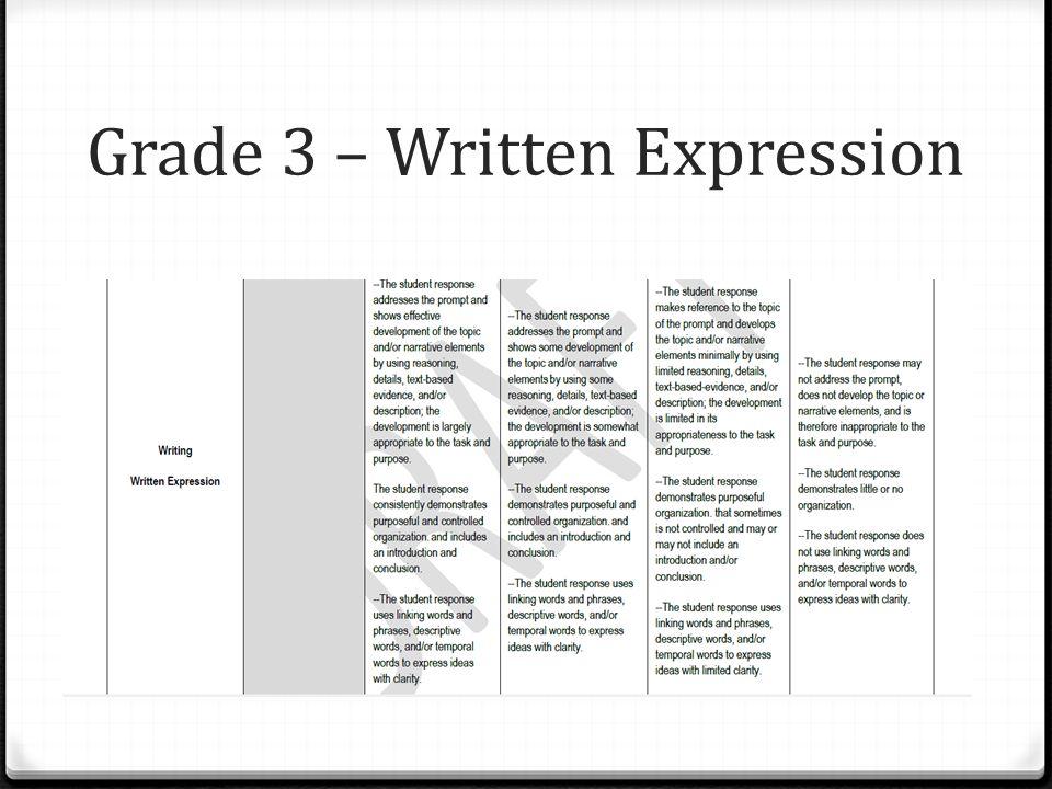 Grade 3 – Written Expression