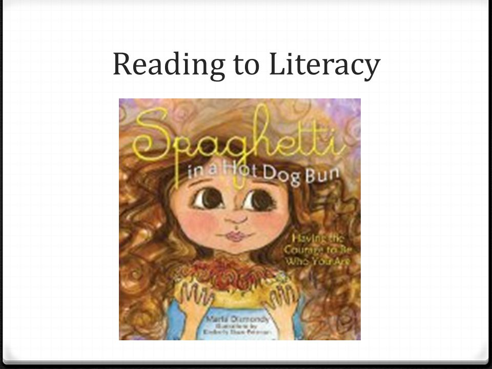 Reading to Literacy