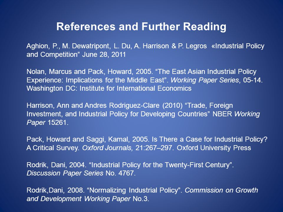 References and Further Reading Aghion, P., M. Dewatripont, L.