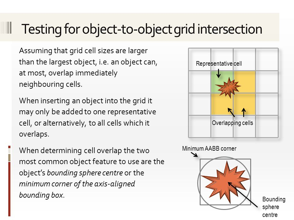 If objects are associated with a single cell (i.e.