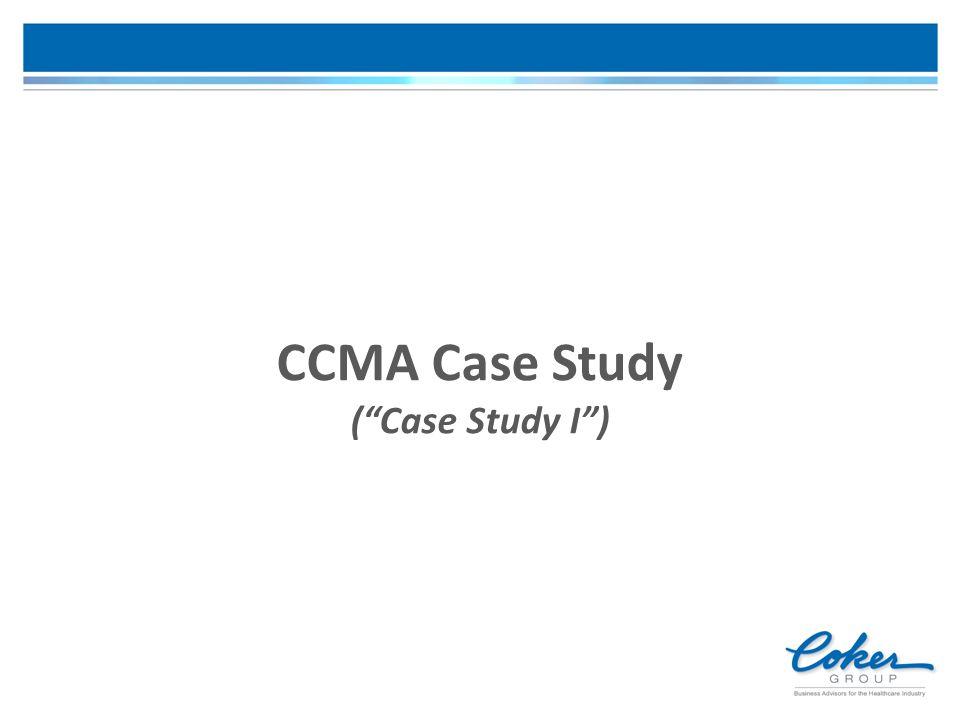 "CCMA Case Study (""Case Study I"")"