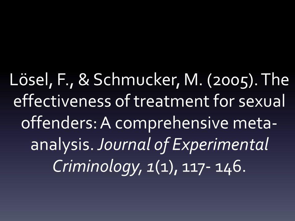 Lösel, F., & Schmucker, M. (2005).