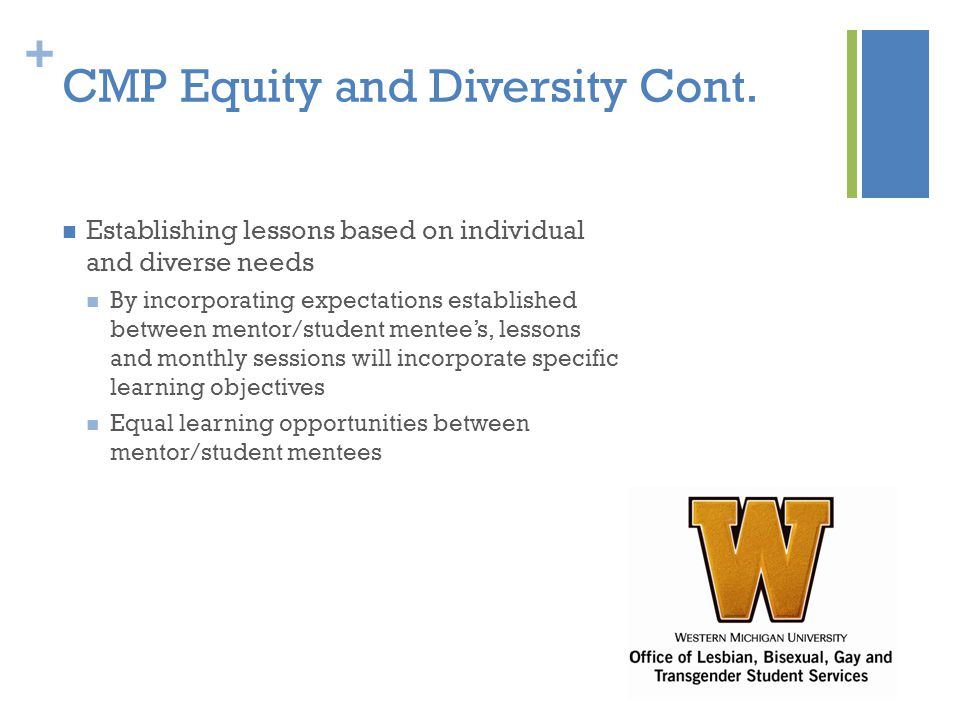 + CMP Equity and Diversity Cont.