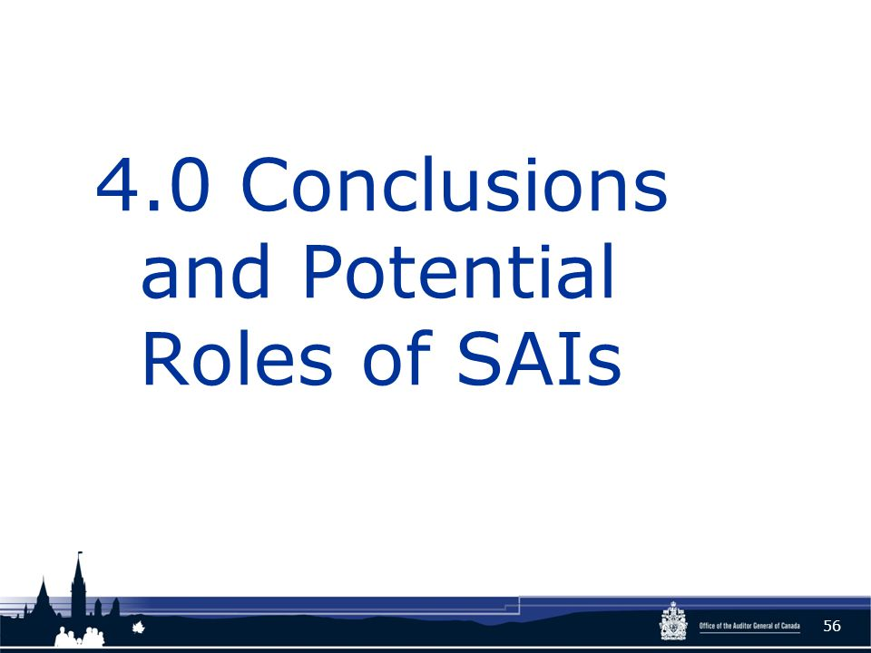 4.0 Conclusions and Potential Roles of SAIs 56