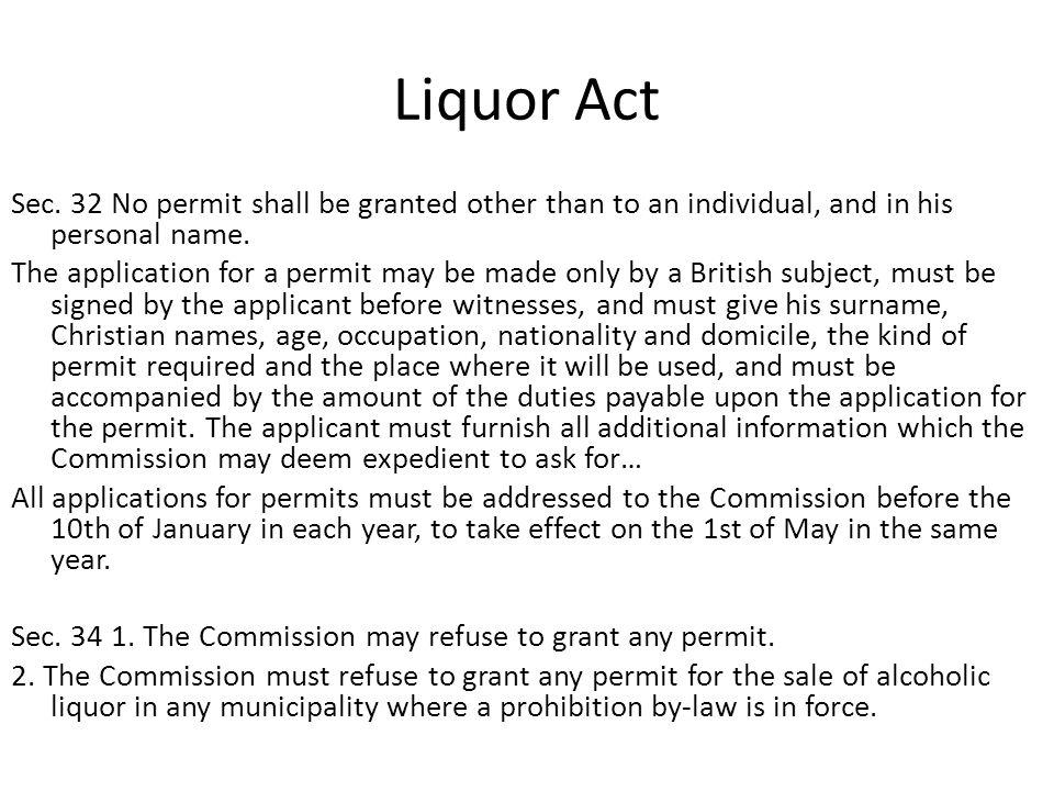 Liquor Act Sec.