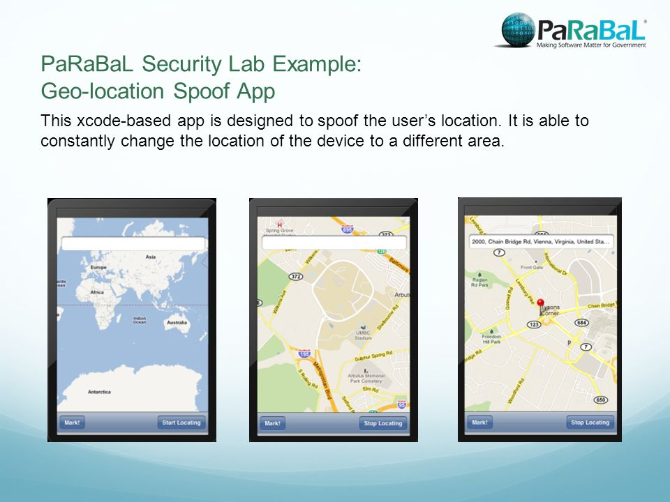 This xcode-based app is designed to spoof the user's location.