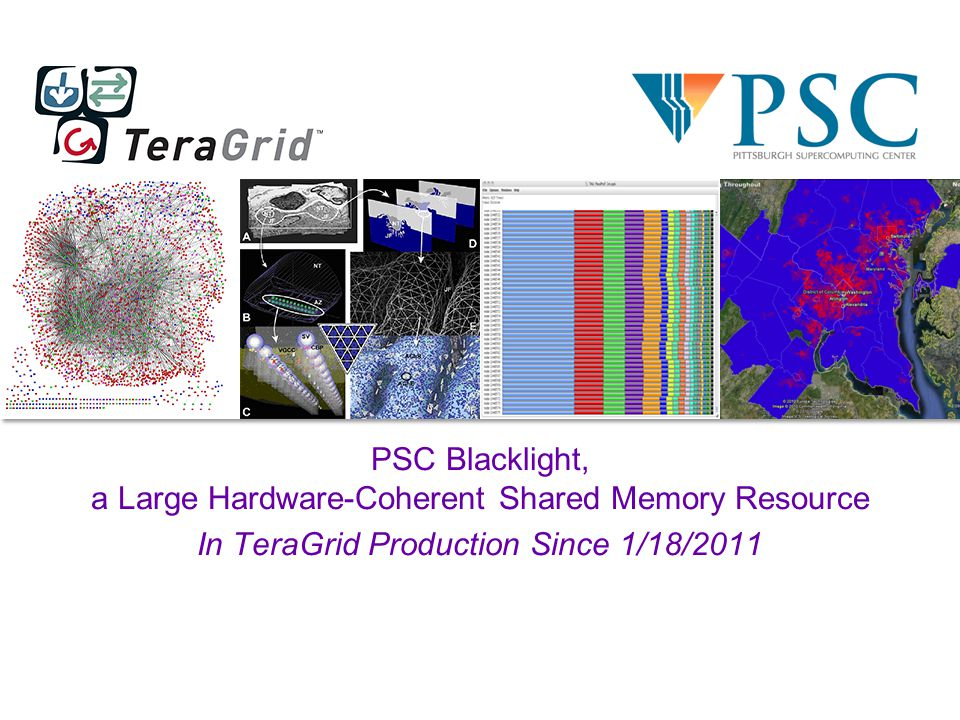 PSC Blacklight, a Large Hardware-Coherent Shared Memory Resource In TeraGrid Production Since 1/18/2011