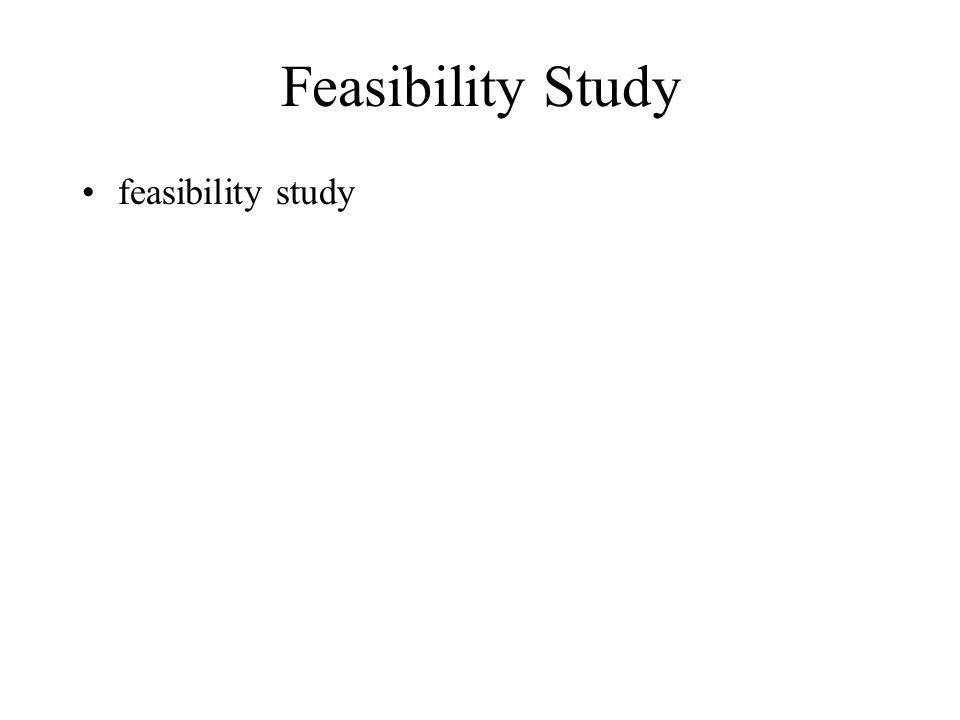 Feasibility Study feasibility study