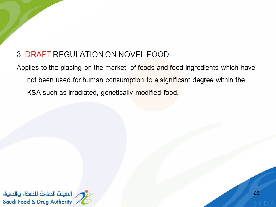 3.DRAFT REGULATION ON NOVEL FOOD.