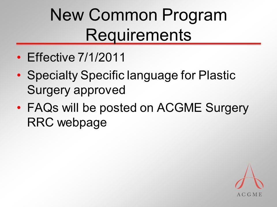 New Common Program Requirements VI.D.1.