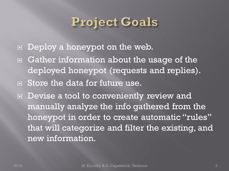  Deploy a honeypot on the web.