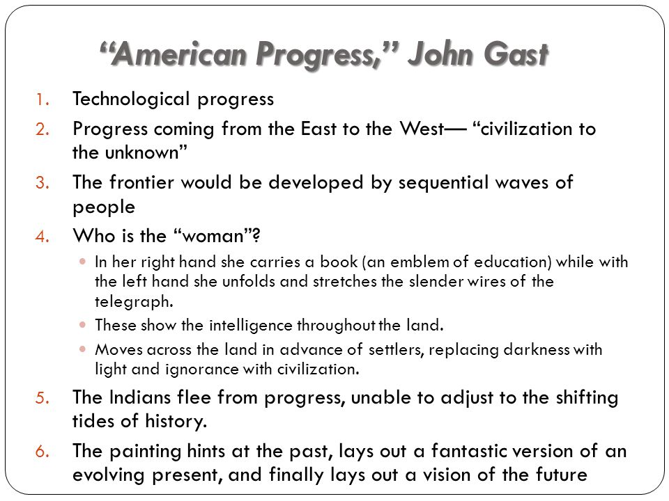 How does the painting American Progress reflect the idea of manifest destiny?