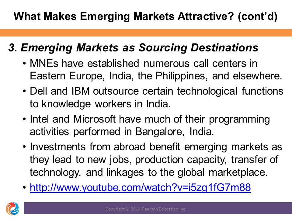 What Makes Emerging Markets Attractive.(cont'd) 3.