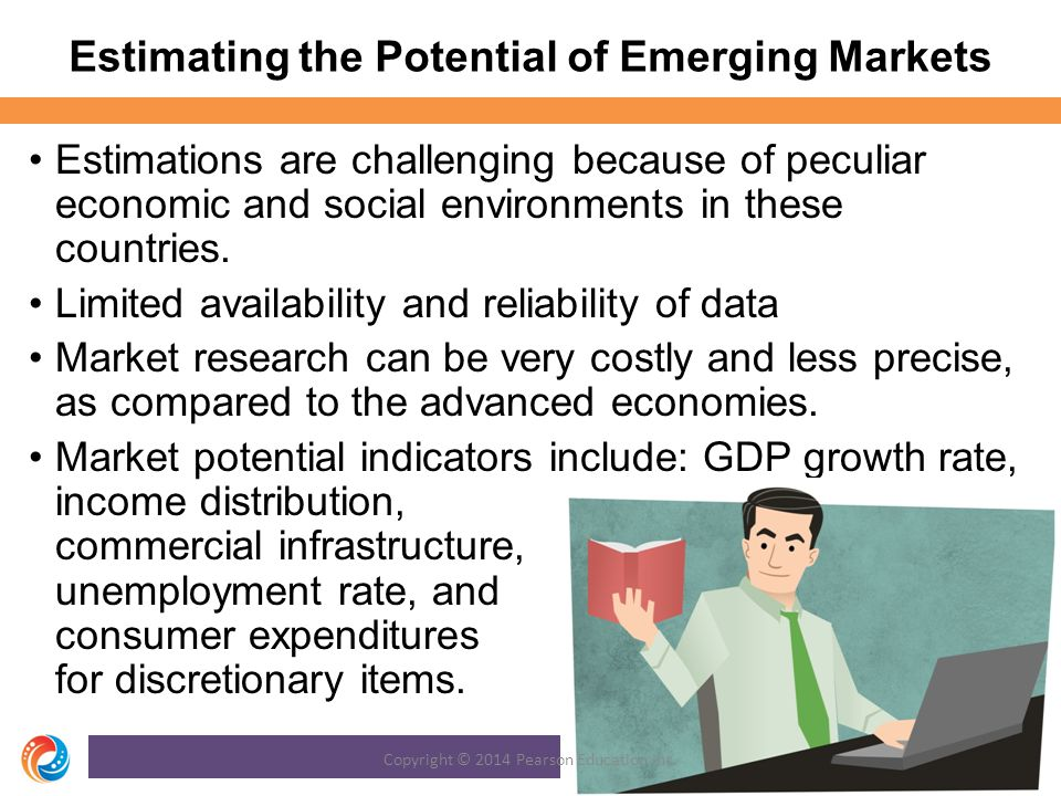 Estimating the Potential of Emerging Markets Estimations are challenging because of peculiar economic and social environments in these countries.