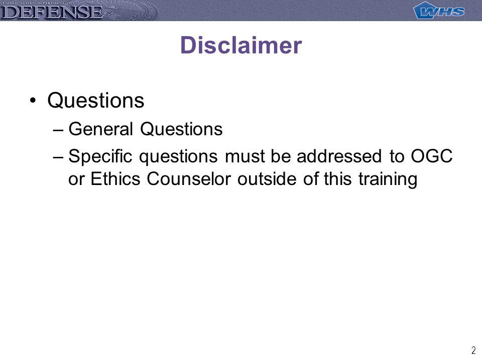 33 Questions WHS/OGC Phone No. 703-693-7374