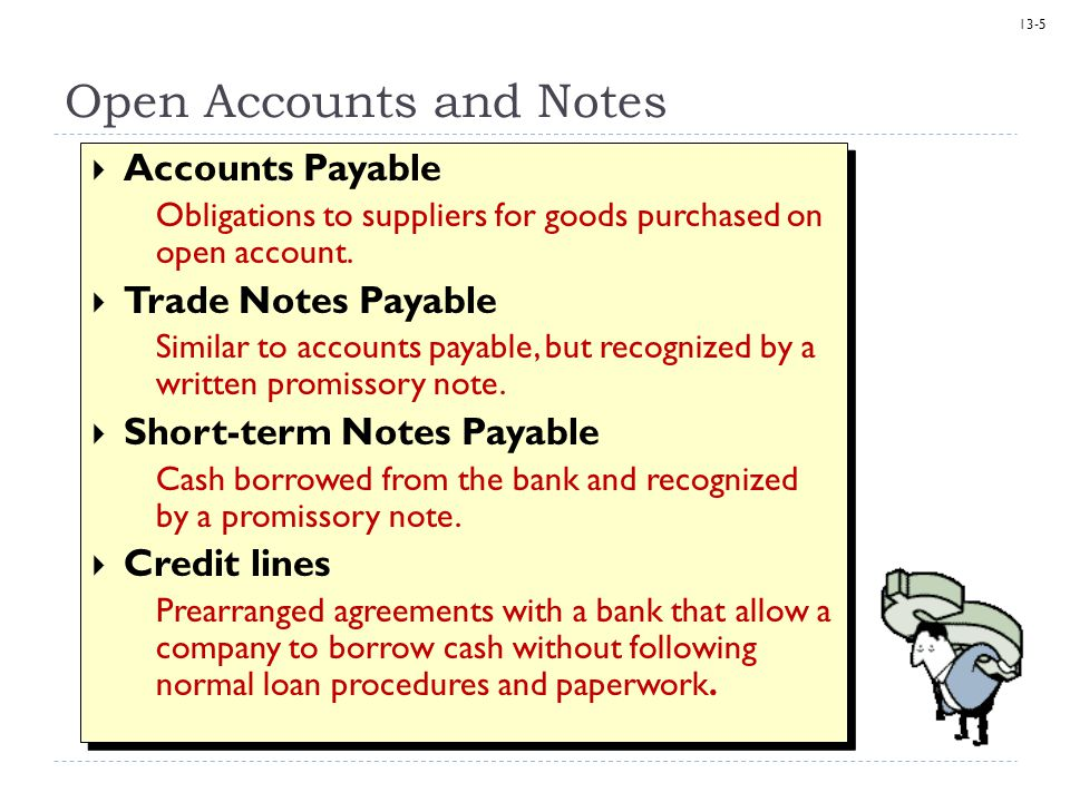 13-6 Interest Interest on notes is calculated as follows: Amount borrowed Interest rate is always stated as an annual rate.