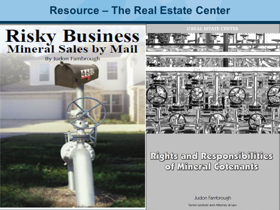 38 Resource – The Real Estate Center