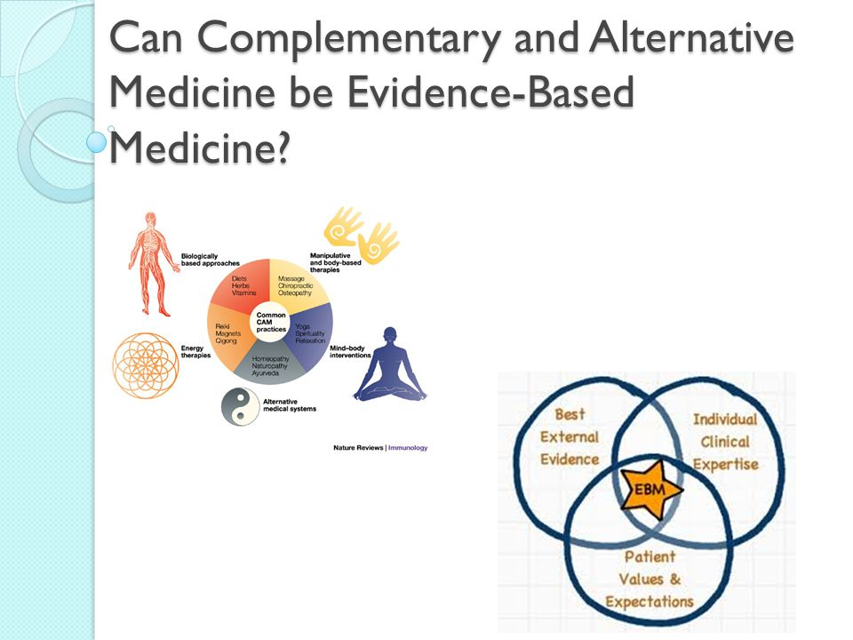 Can Complementary and Alternative Medicine be Evidence-Based Medicine