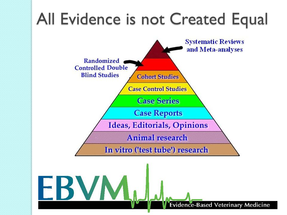All Evidence is not Created Equal