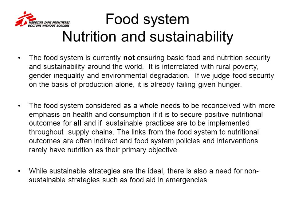 Food system interventions for better nutrition Keeping up the momentum of agricultural growth in agricultural productivity will be key to meeting demand.