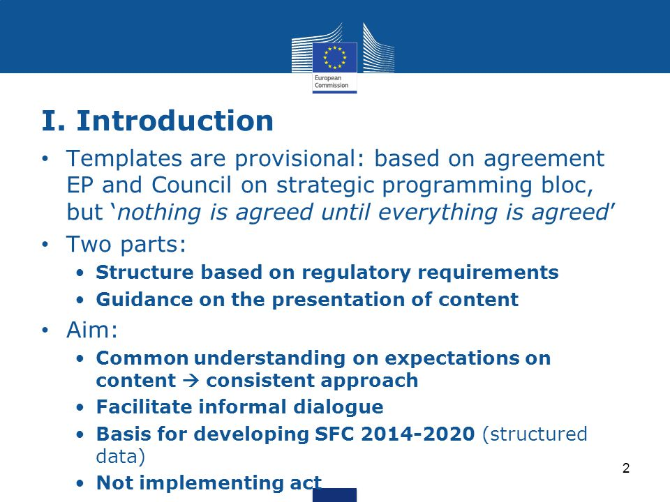 Important steps towards OP adoption 33 Submission of OP: at the latest 3 months following submission PA (Art.