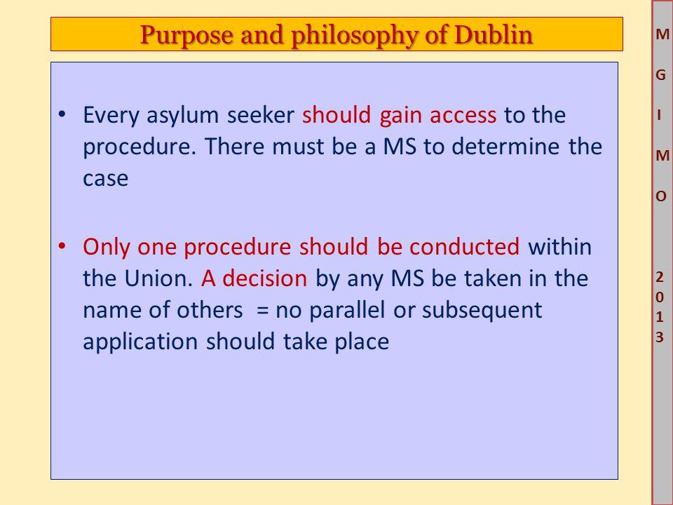 M G IM O 2013M G IM O 2013 Every asylum seeker should gain access to the procedure.