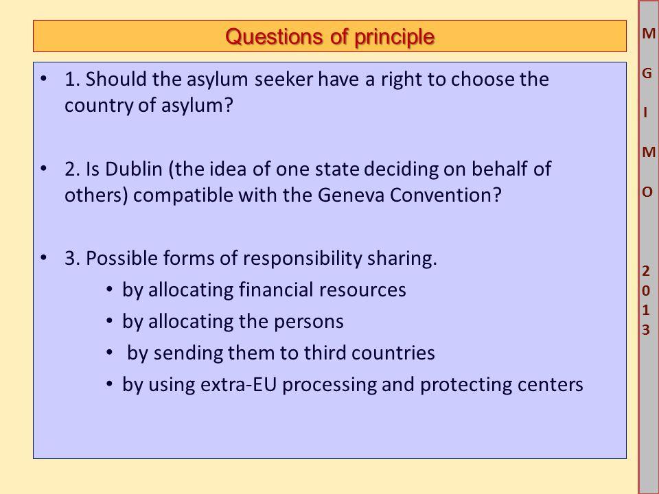 M G IM O 2013M G IM O 2013 Questions of principle 1.