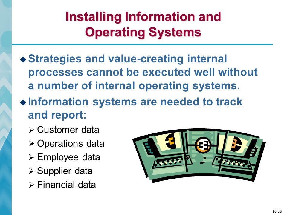 10-31 Trends in Information Systems  Up-to-the-minute reporting:  Manufacturers have daily production reports.