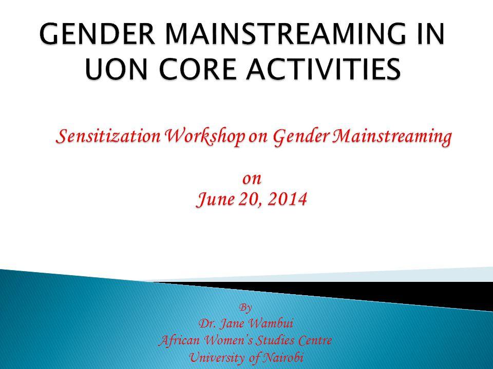  Gender sensitive institutions  Gender sensitive policies  Gender sensitive plans & programs  Institutions free from gender based violence  Gender equity and equality  Sustainable development