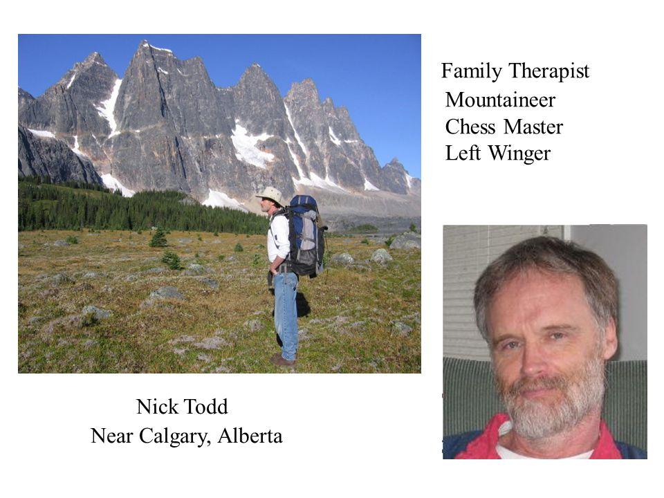 Family Therapist Mountaineer Chess Master Left Winger Nick Todd Near Calgary, Alberta