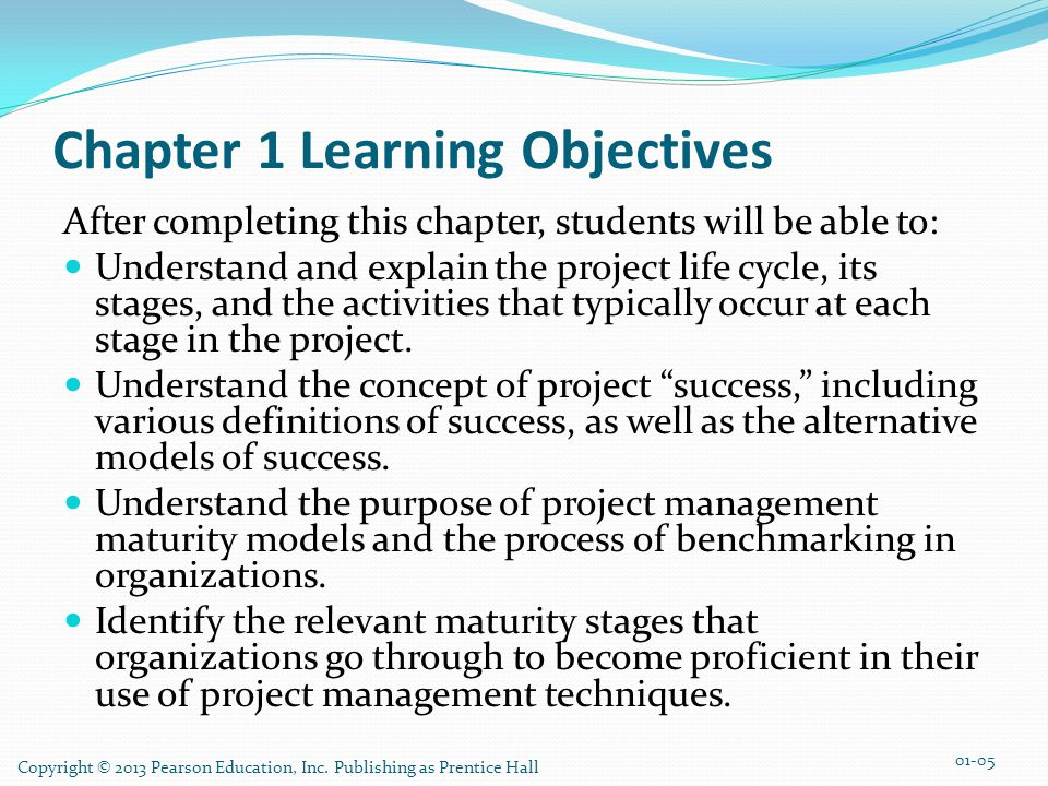 TextBook organization Foundation Chapter 1 - Introduction: Why Project Management.