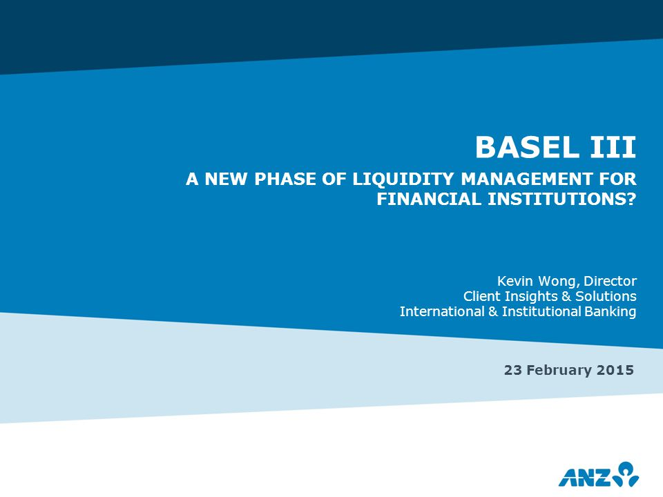 2 Background: the Basel III response to the GFC >Basel III is a complex, multi-faceted, multi-staged set of banking regulatory reforms >Global 'base' rules, but national differences >Milestones  1 Jan 2013: Capital – quantity and quality  1 Jan 2015: Liquidity Coverage Ratio (LCR) – short term liquidity ‒ 1 Jan 2018: Net Stable Funding Ratio (NSFR) – longer term liquidity/'match funding' ‒ 1 Jan 2018: Leverage Ratio – on- and off-balance sheet leverage >Direct impact on banks; indirect impact on bank customers, counterparties and investors In the view of banking regulators, the GFC exposed several key weaknesses in the global banking industry – capital, liquidity and leverage