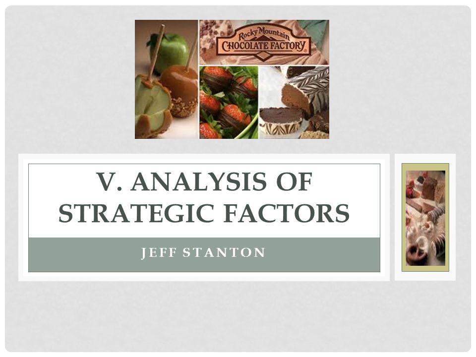 JEFF STANTON V. ANALYSIS OF STRATEGIC FACTORS