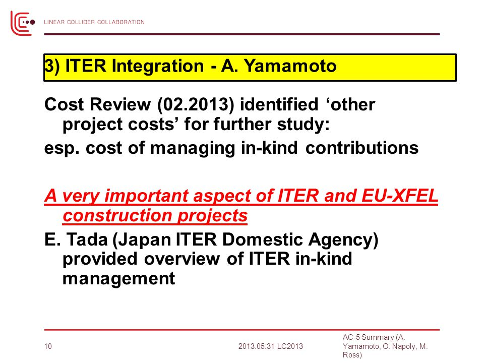 Cost Review (02.2013) identified 'other project costs' for further study: esp.