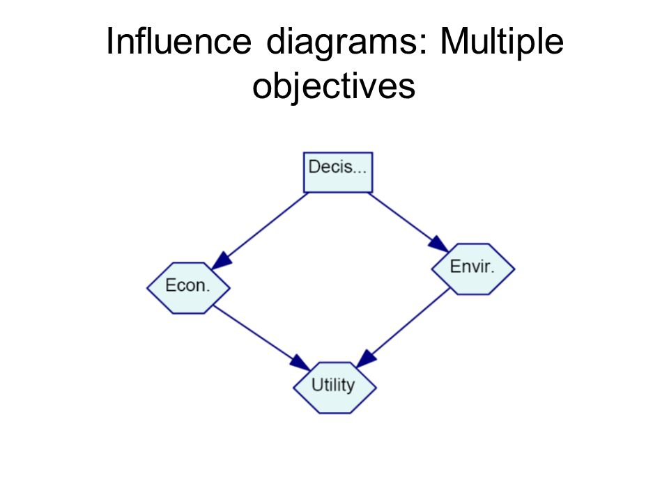 Influence diagrams: Multiple objectives