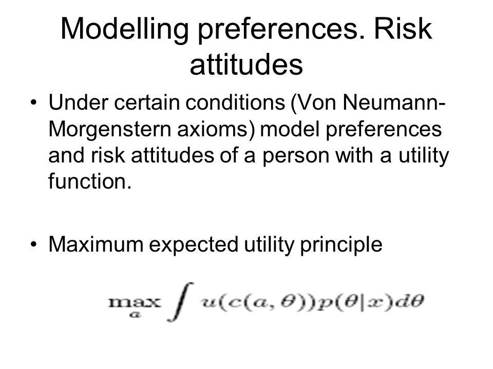 Modelling preferences.