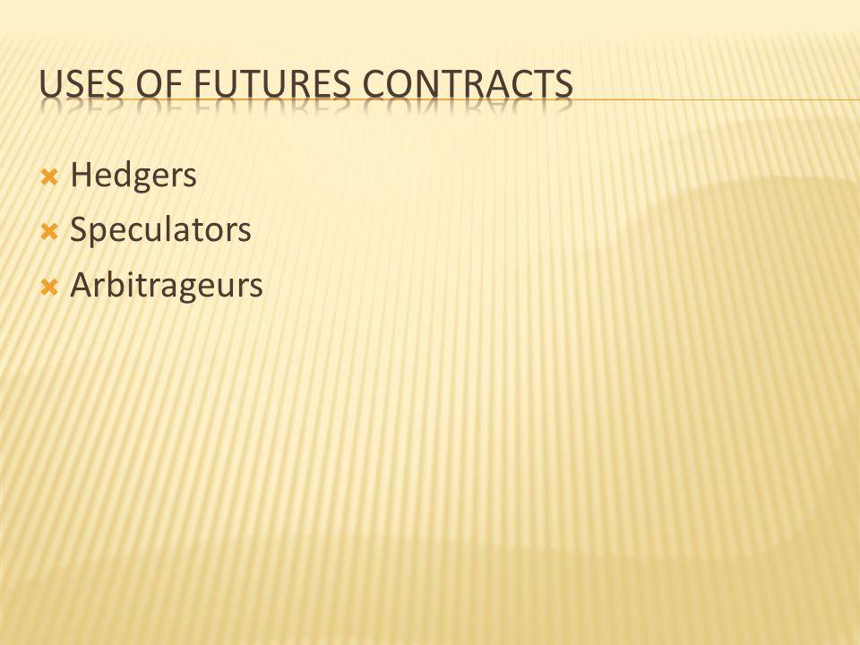  Hedgers  Speculators  Arbitrageurs