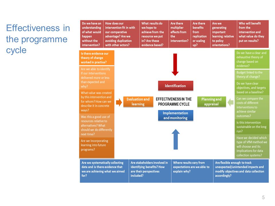 5 Effectiveness in the programme cycle