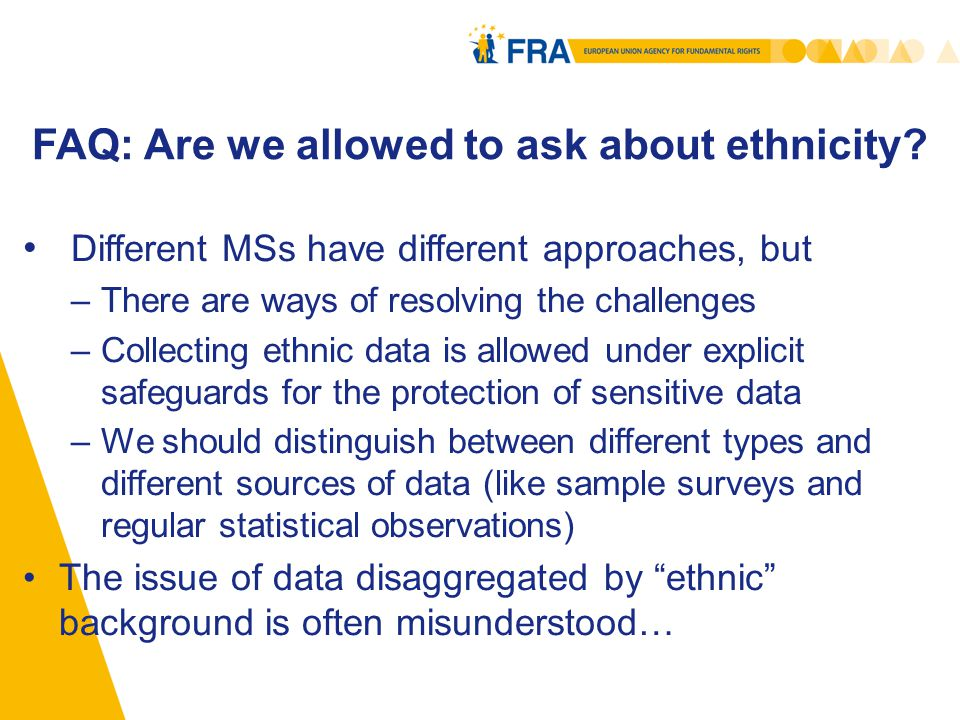 FAQ: Are we allowed to ask about ethnicity.
