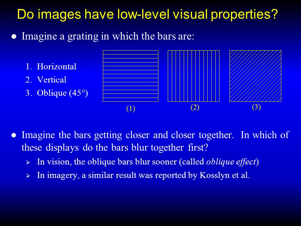 Do images have low-level visual properties.