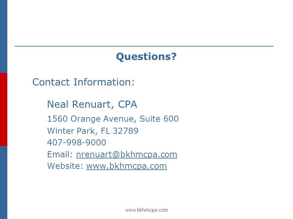 www.bkhmcpa.com Questions.